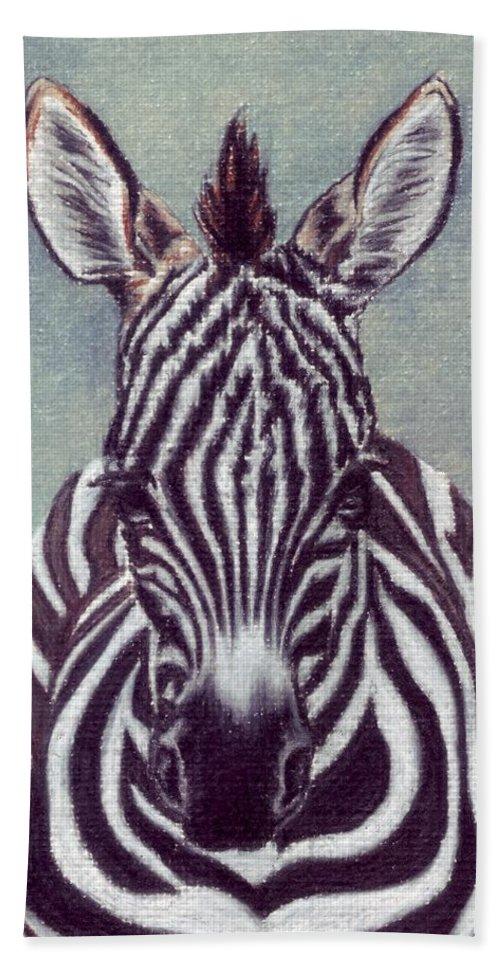 Zebra Bath Sheet featuring the drawing Wee Zeeb by Kristen Wesch
