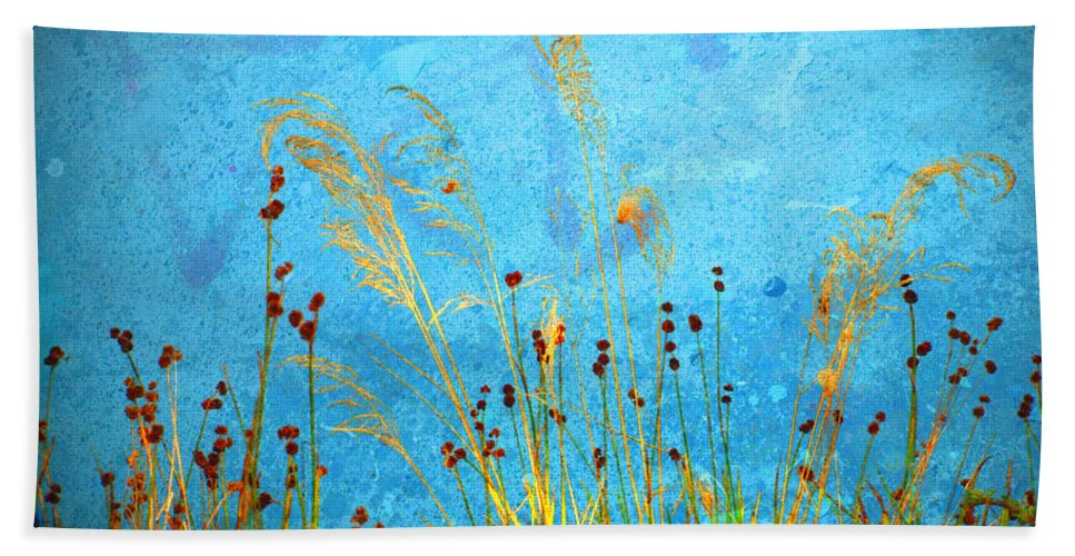 Weeds Hand Towel featuring the photograph Weeds And Water by Tara Turner
