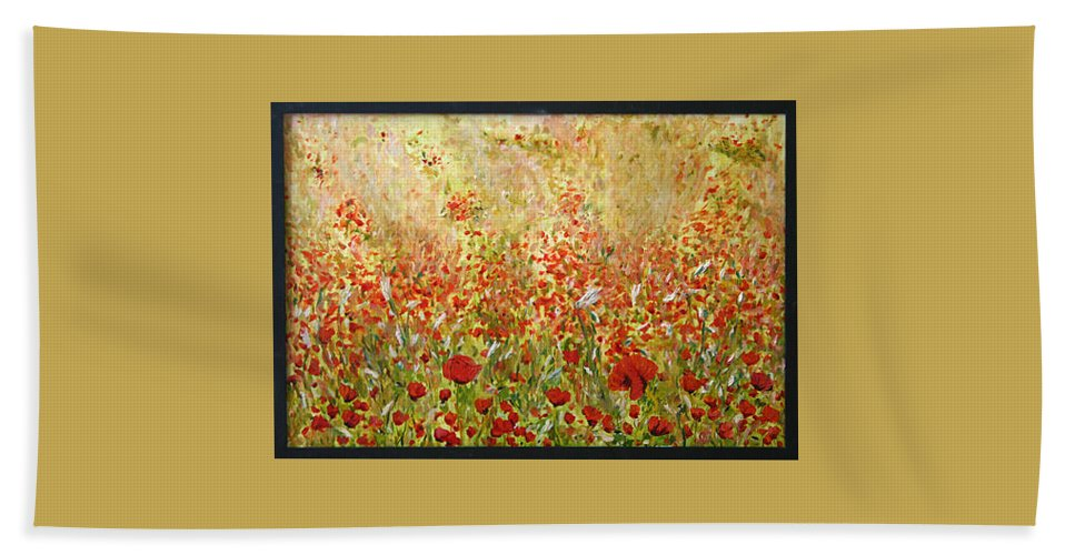 Landscape Hand Towel featuring the painting Weeds by Pablo de Choros