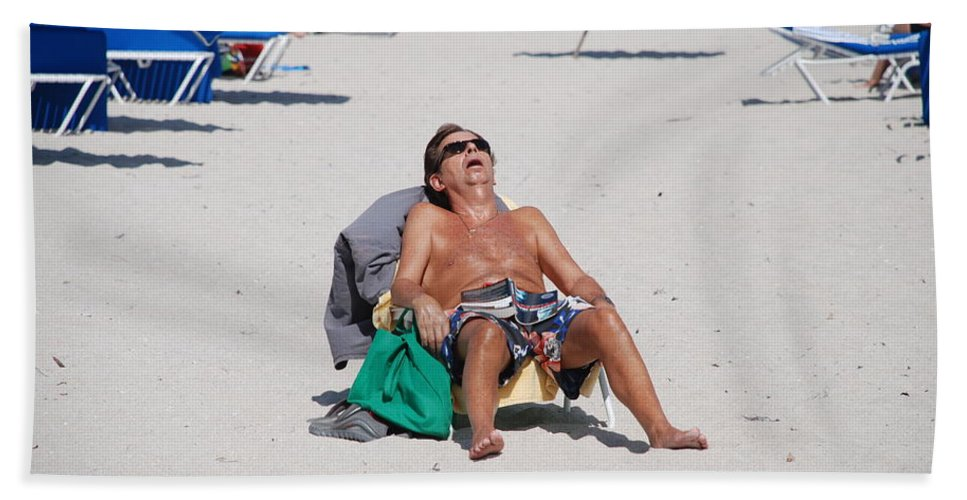 Beach Hand Towel featuring the photograph Weekend At Bernies by Rob Hans
