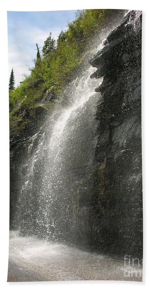 Weeping Bath Sheet featuring the photograph Weeping Wall by Diane Greco-Lesser