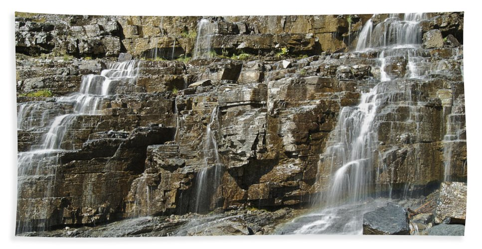 Landscape Hand Towel featuring the photograph Weeping Wall by Michael Peychich