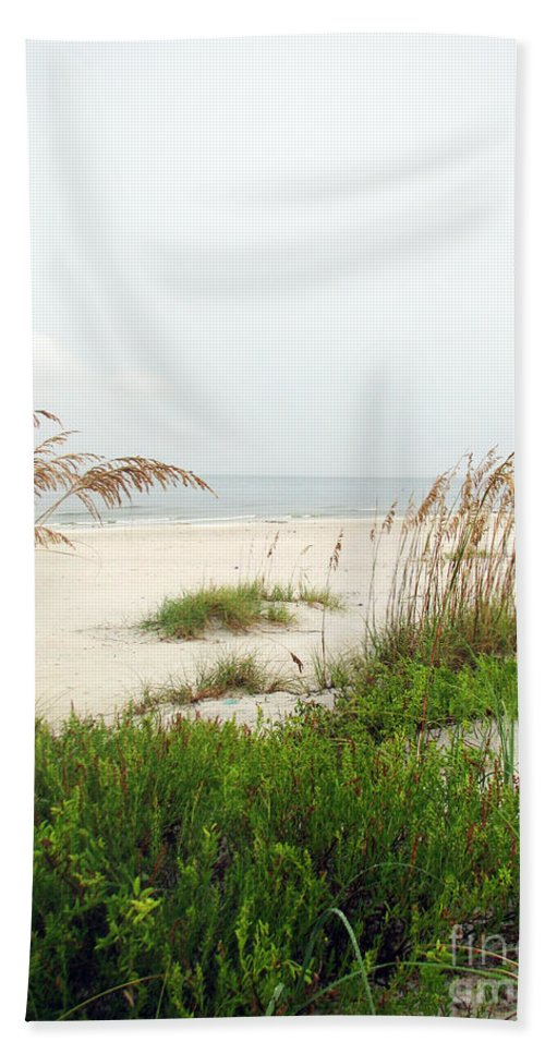 Beaches Hand Towel featuring the photograph Welcome by Amanda Barcon