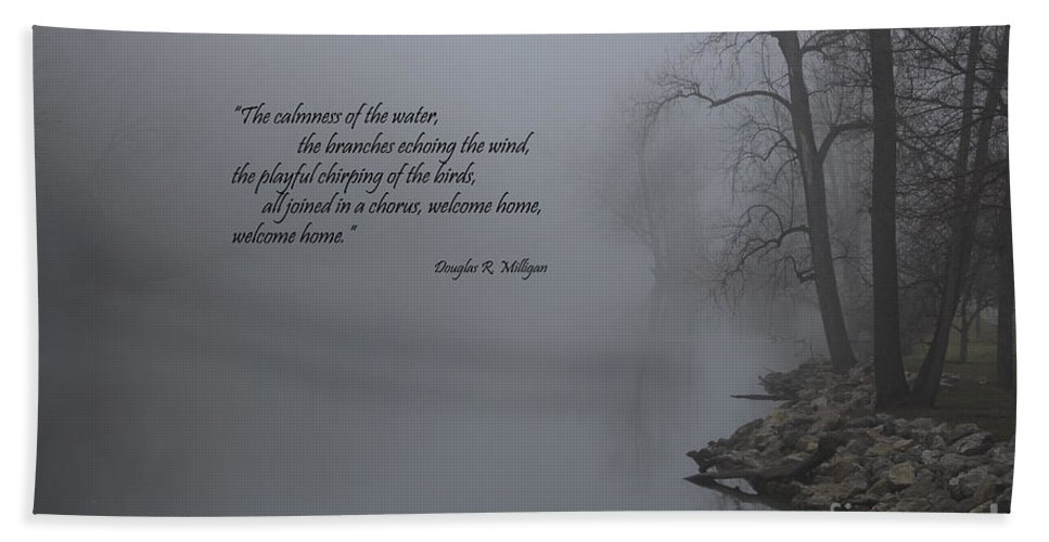 Calm River Hand Towel featuring the photograph Welcome Home by Douglas Milligan