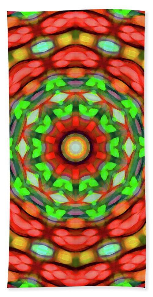 Mandala Art Hand Towel featuring the painting Welcome by Jeelan Clark