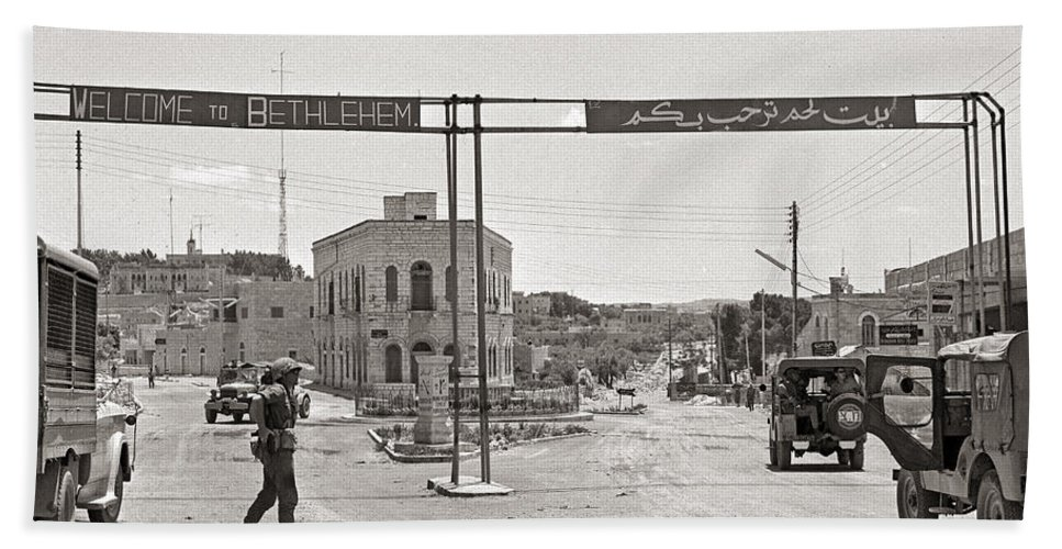 Bethlehem Hand Towel featuring the photograph Welcome To Bethlehem by Munir Alawi