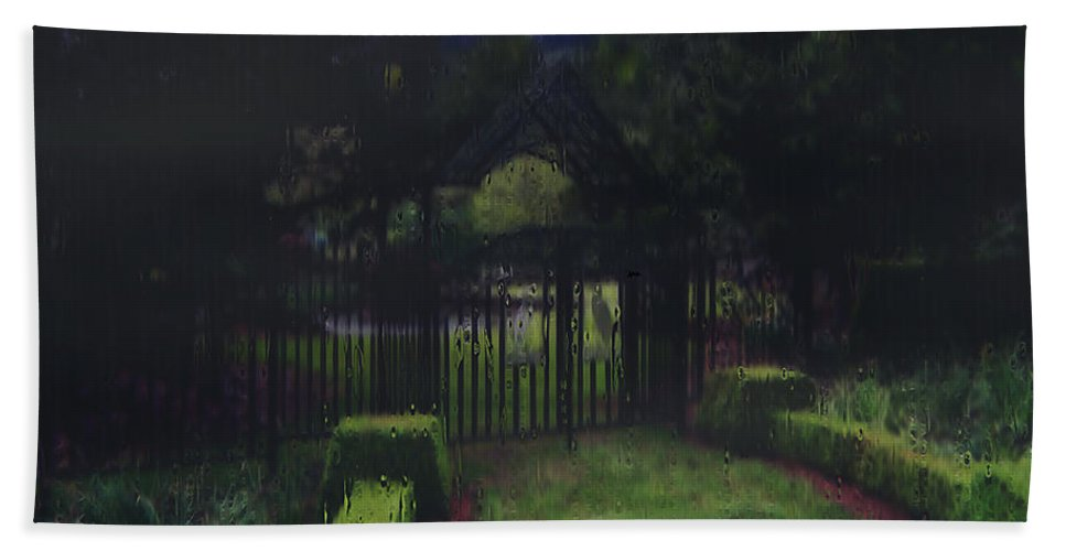 Landscape Bath Towel featuring the painting Welcome To Dudleytown by RC DeWinter