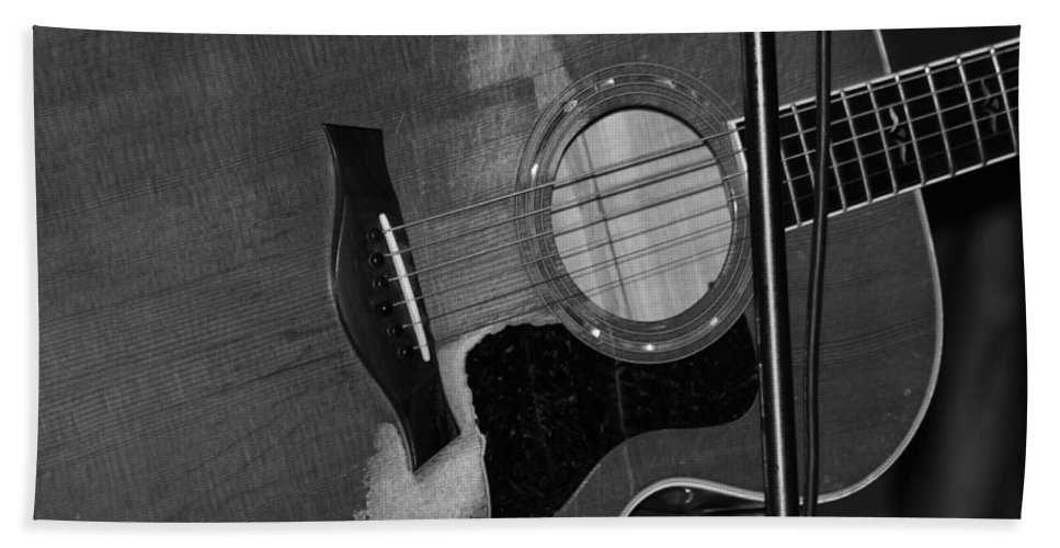 Guitar Hand Towel featuring the photograph Well Played by Lauri Novak