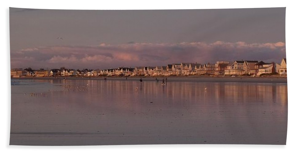 Wells Beach Bath Sheet featuring the photograph Wells Sunrise by Stefanie Beauregard