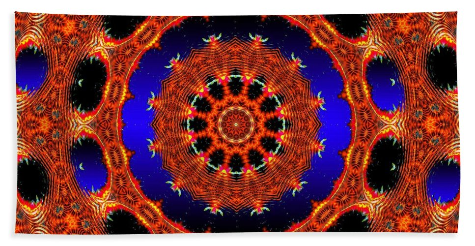 Fractal Bath Sheet featuring the digital art Welome Home by Robert Orinski