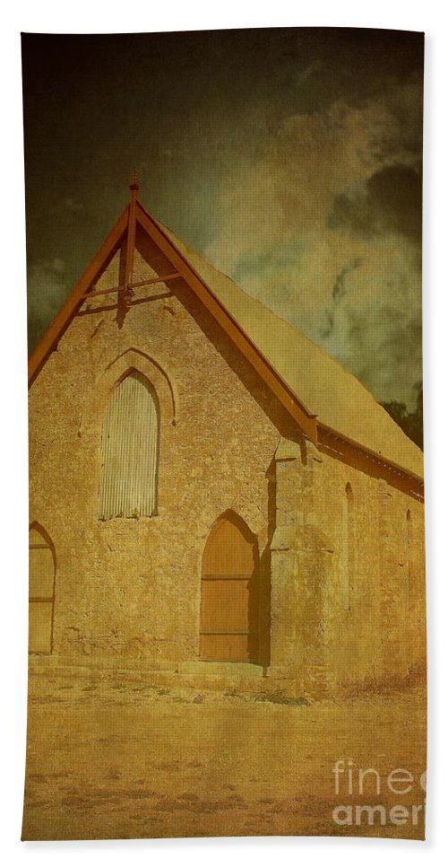 Texture Hand Towel featuring the photograph Wesley Church, Greenough, Western Australia by Elaine Teague