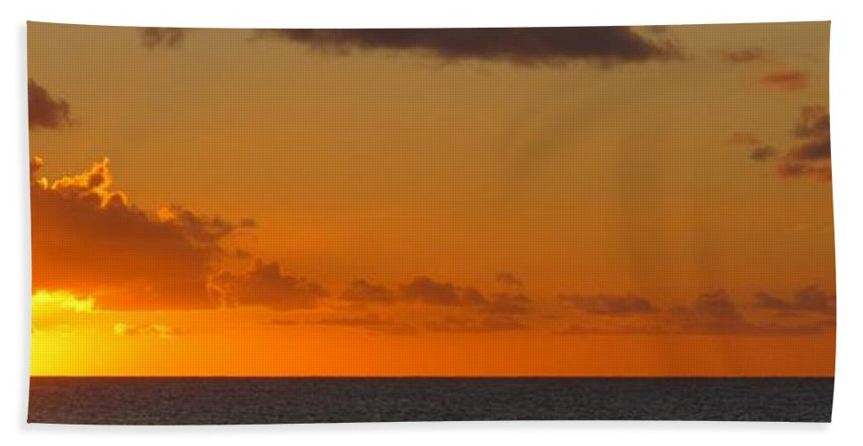 Sun Hand Towel featuring the photograph West From Frigate Bay by Ian MacDonald