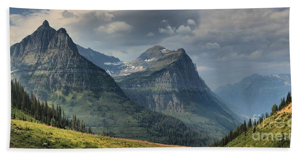 Glacier National Park Hand Towel featuring the photograph West Glacier Mountains by Adam Jewell