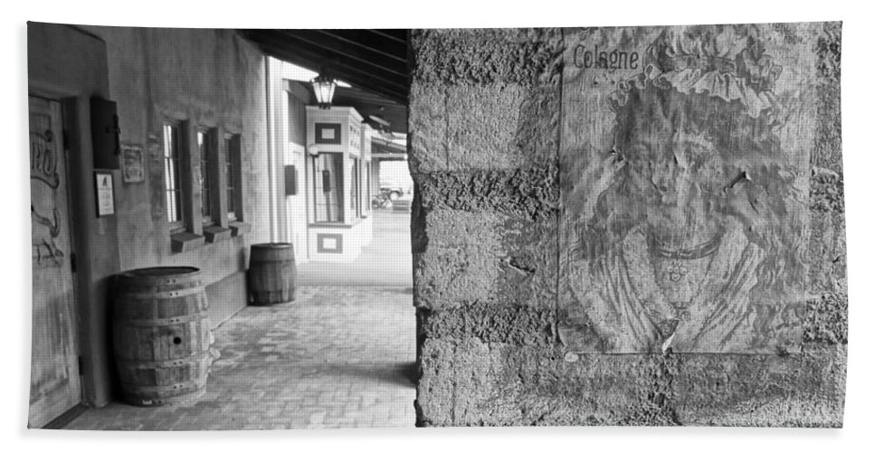 Barrel Hand Towel featuring the photograph Western Alley 2 by Korynn Neil