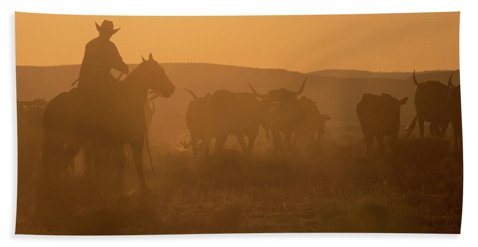 Ranch Hand Towel featuring the photograph Western Roundup Number 1 by Steve Gadomski