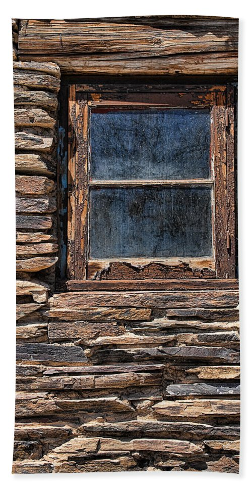 Old Western Bath Sheet featuring the photograph Western Window by Kelley King