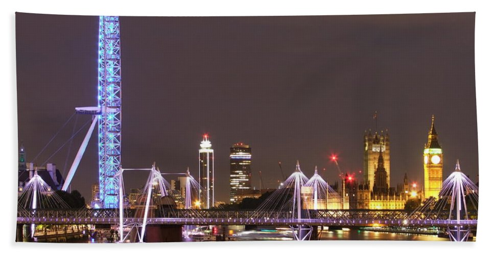London Bath Sheet featuring the photograph Westminster From Waterloo Bridge London by Andrew Ford