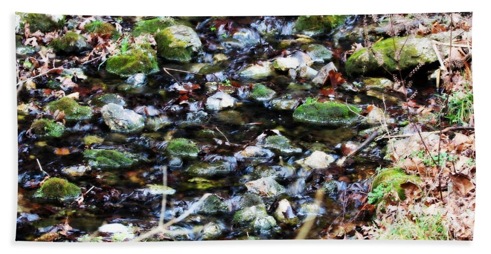 Water Bath Sheet featuring the photograph Wet Rocks by Emily Spivy
