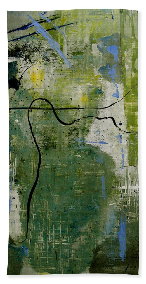 Abstract Bath Sheet featuring the painting What Counts Is A New Creation by Ruth Palmer