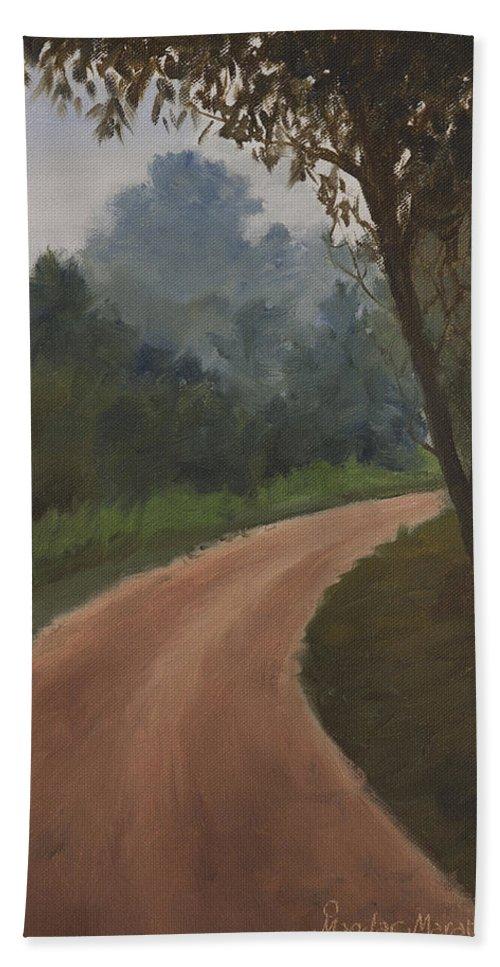 What Lies Ahead Bath Sheet featuring the painting What Lies Ahead by Mandar Marathe