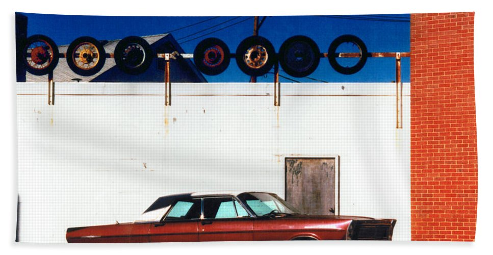 Cars Hand Towel featuring the photograph Wheels by Steve Karol