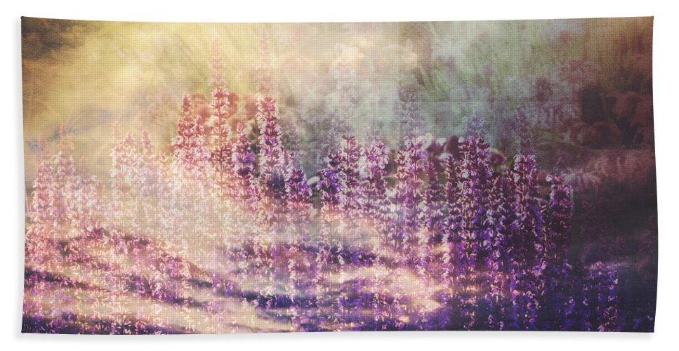 Floral Bath Sheet featuring the photograph When Earth And Sky Collide by Debbie Nobile