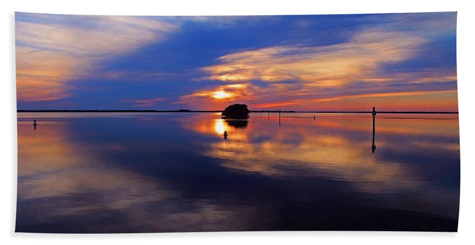 Sunset Hand Towel featuring the photograph When I Awaken by Michiale Schneider