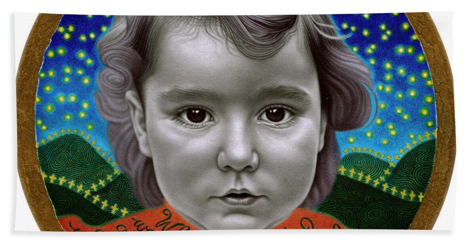 Photorealism Bath Sheet featuring the drawing When I Grow Up by Chuck Bowden