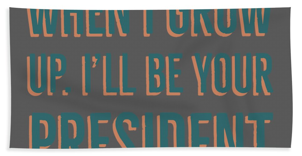 When I Grow Up Hand Towel featuring the digital art When I Grow Up Series by Raise Vegan