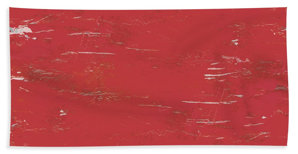 Abstract Hand Towel featuring the painting When You See Red by Tonya Doughty