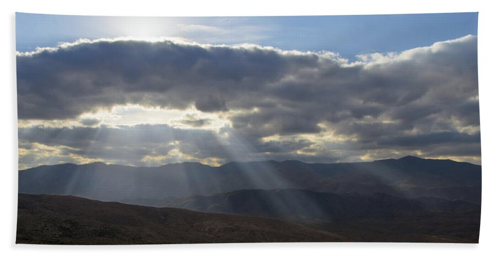 Arizona Hand Towel featuring the photograph When Your Light Shines by Sandra Parlow