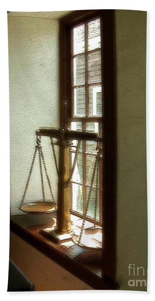Window Bath Towel featuring the painting Where Be His Quiddits Now? by RC DeWinter