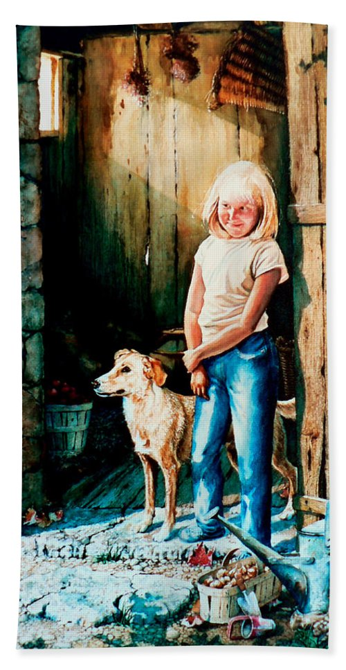 Tribute To Connie Francis Hand Towel featuring the painting Where The Boys Are by Hanne Lore Koehler