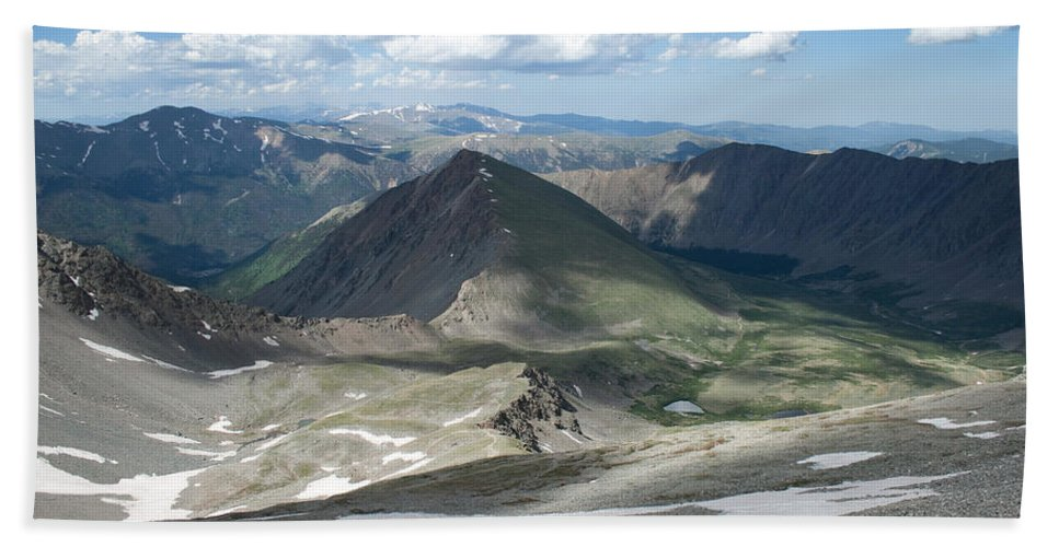 Grays Peak Hand Towel featuring the photograph Where We Had Been by Angus Hooper Iii