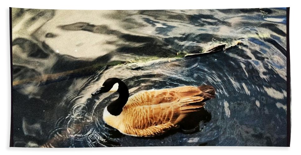 Duck Bath Sheet featuring the photograph Whirling by Artie Rawls