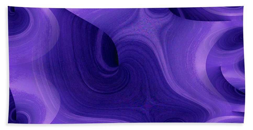 Fractals Bath Towel featuring the photograph Whirlpool 1 by Tim Allen