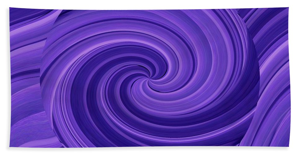 Whirlpool Bath Towel featuring the photograph Whirlpool Blues by Tim Allen