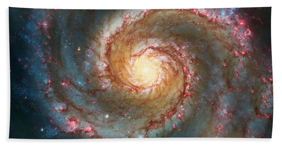 Space Bath Sheet featuring the photograph Whirlpool Galaxy by Jennifer Rondinelli Reilly - Fine Art Photography