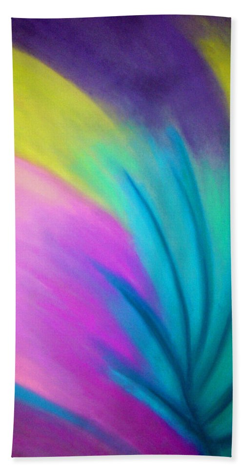 Pastel; Colors; Abstract Drawing Bath Sheet featuring the drawing Whirlwind by Jan Gilmore
