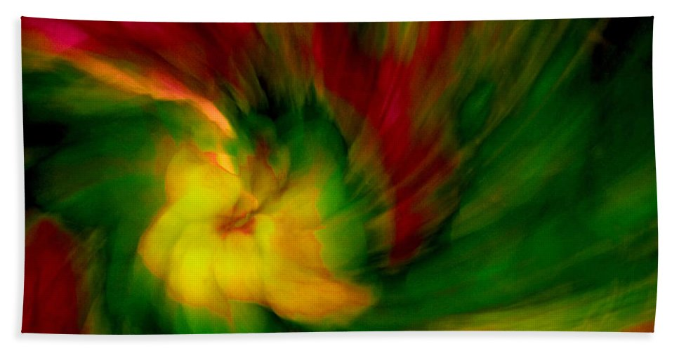Abstract Hand Towel featuring the photograph Whirlwind Passion by Neil Shapiro