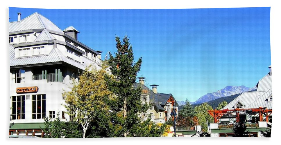 2010 Olympics Hand Towel featuring the photograph Whistler Village by Will Borden
