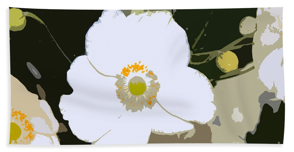 Flower Hand Towel featuring the photograph White Beauty Work Number 6 by David Lee Thompson