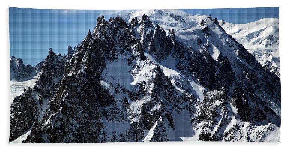 Summit Bath Sheet featuring the photograph White Cap by John Gaffen