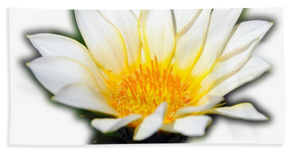Flower T-shirt Hand Towel featuring the photograph White Flower T-shirt by Isam Awad