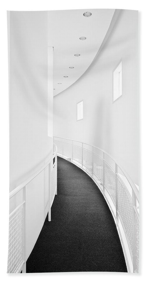 Hall Hand Towel featuring the photograph White Hall by Robert Ponzoni