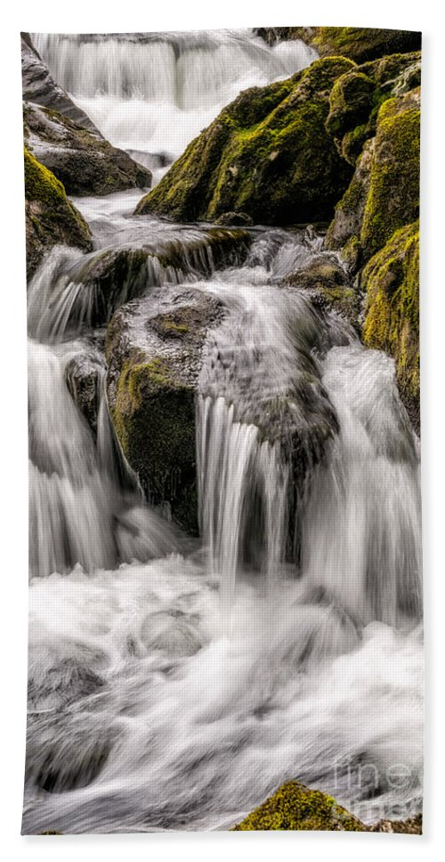 Waterfall Bath Sheet featuring the photograph White Water Rapids by Adrian Evans
