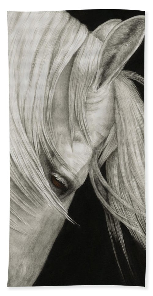 Horse Bath Sheet featuring the painting Whitefall by Pat Erickson