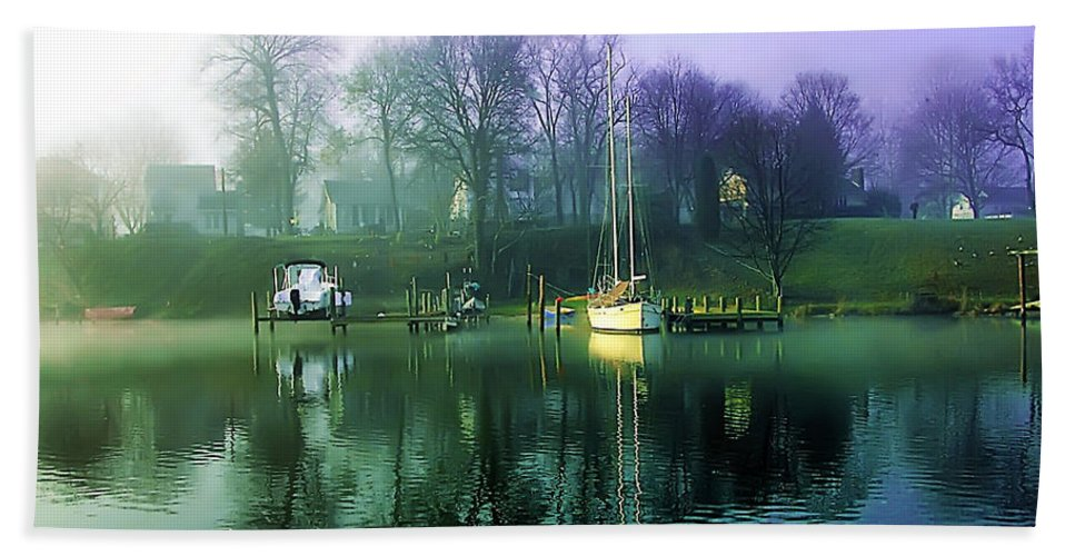 2d Bath Sheet featuring the photograph White's Cove Awakening by Brian Wallace