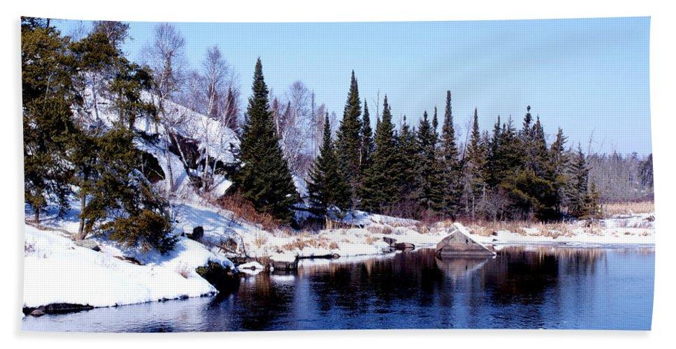 Whiteshell Provincial Park Canada Bath Sheet featuring the photograph Whiteshell Provincial Park by Joanne Smoley