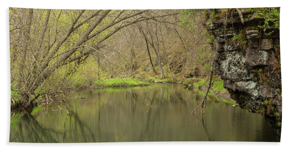 River Hand Towel featuring the photograph Whitewater River Spring 51 by John Brueske